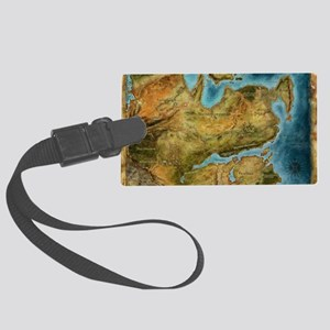 Thedas Map Large Luggage Tag