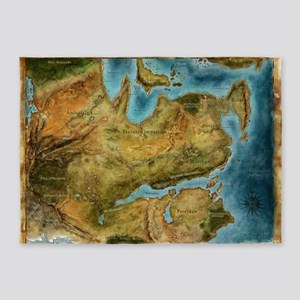 Thedas Map 5'x7'Area Rug