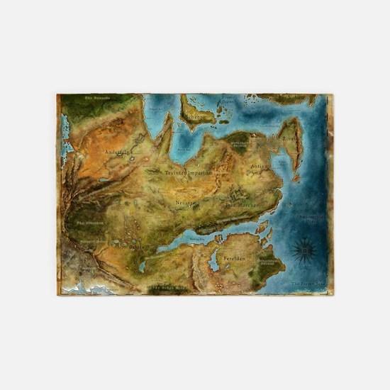 Thedas Map 5'x7'Area Rug