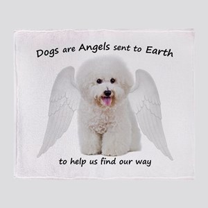Bichons are Angels Throw Blanket