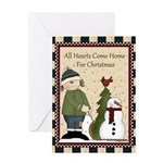 All Hearts Come Home Christmas Card Greeting Cards