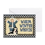 Warm Winter Wishes Christmas Card Greeting Cards