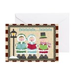 Carolers Christmas Card Greeting Cards