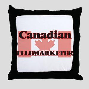 Canadian Telemarketer Throw Pillow