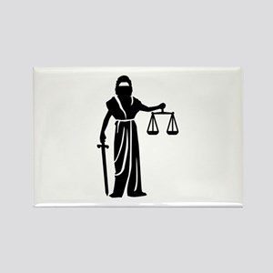 Justitia court Rectangle Magnet