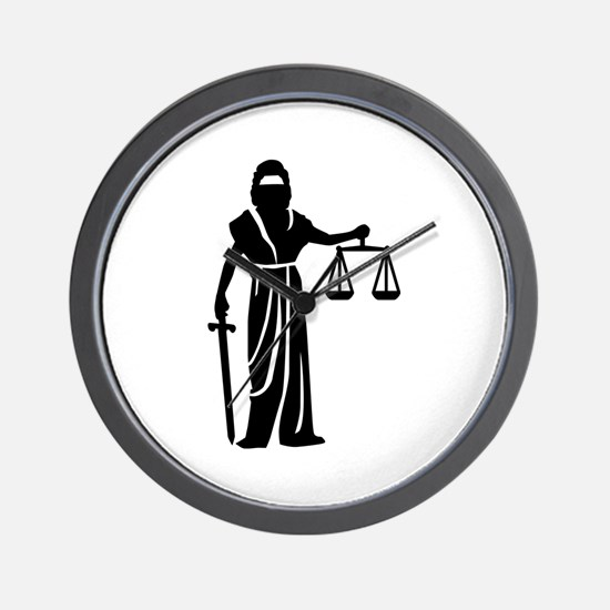 Justitia court Wall Clock