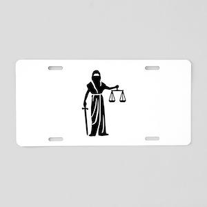 Justitia court Aluminum License Plate