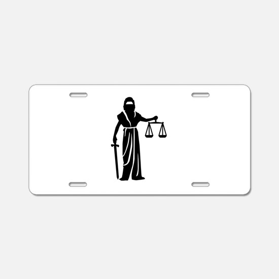 Justitia court Aluminum License Plate