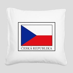 Ceska Republika Square Canvas Pillow