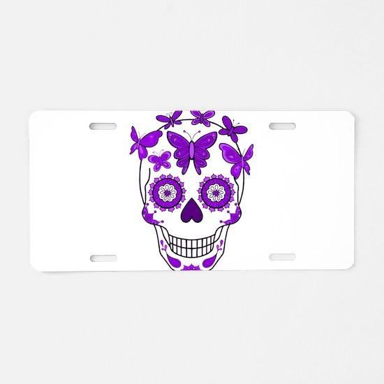 Unique Aztec Aluminum License Plate