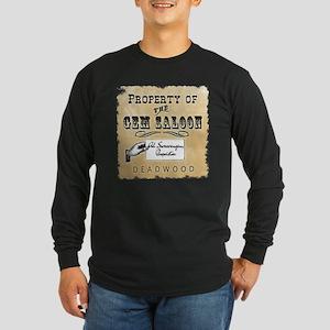 Gem Saloon Deadwood Long Sleeve Dark T-Shirt