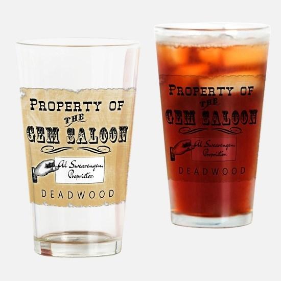 Gem Saloon Deadwood Drinking Glass
