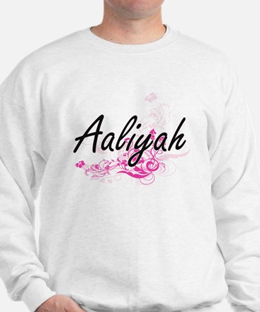 Aaliyah Artistic Name Design with Flowe Sweater