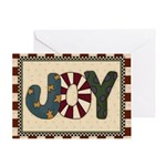 Joy Christmas Card Greeting Cards