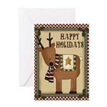 Reindeer Christmas Card Greeting Cards