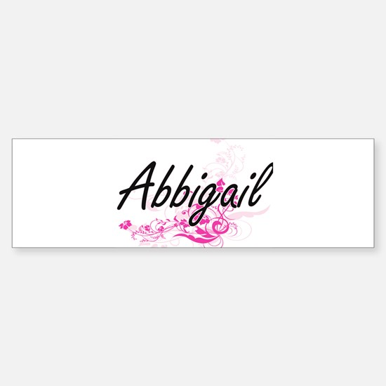 Abbigail Artistic Name Design with Bumper Bumper Bumper Sticker