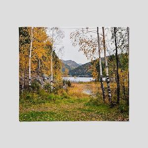 Autumn Lake View Throw Blanket