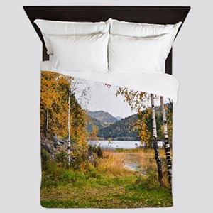 Autumn Lake View Queen Duvet