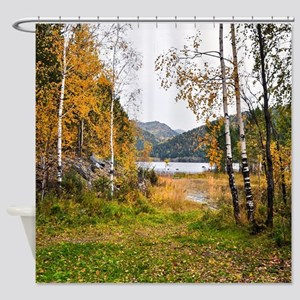 Autumn Lake View Shower Curtain