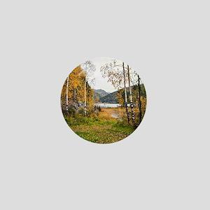 Autumn Lake View Mini Button