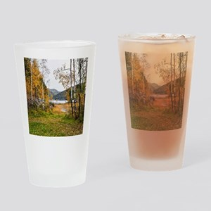 Autumn Lake View Drinking Glass