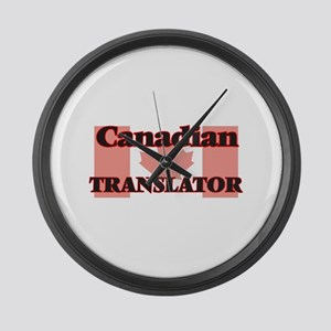 Canadian Translator Large Wall Clock