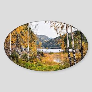 Autumn Lake View Sticker