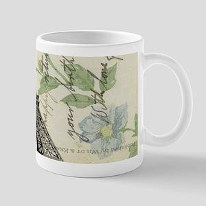 floral paris vintage eiffel tower Mugs