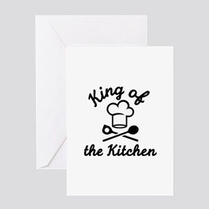 King of the kitchen Greeting Card