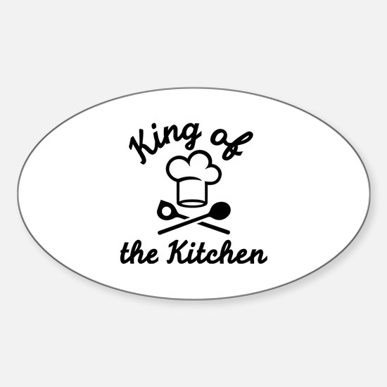 King of the kitchen Sticker (Oval)