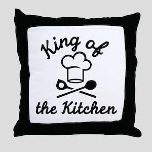King of the kitchen Throw Pillow