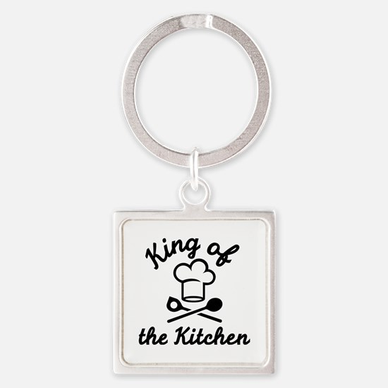 King of the kitchen Square Keychain