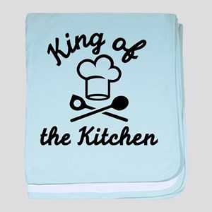 King of the kitchen baby blanket