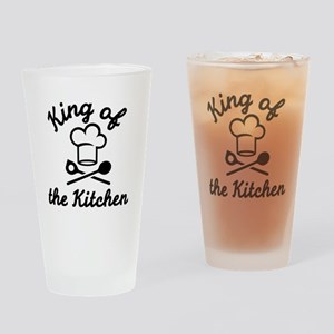 King of the kitchen Drinking Glass