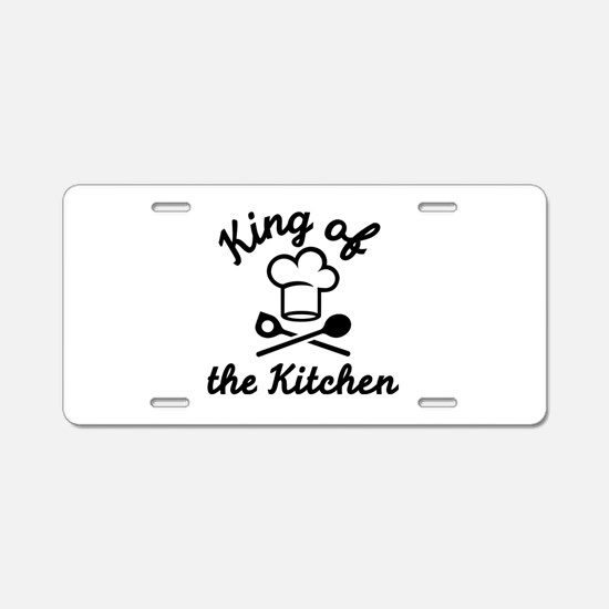 King of the kitchen Aluminum License Plate