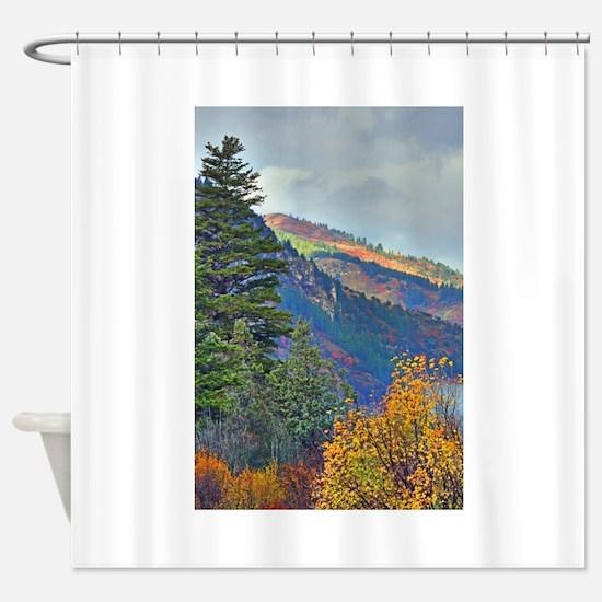 Autumn canyon Shower Curtain