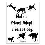 Adopt A Rescue Dog Small Poster