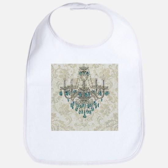 shabby chic damask vintage chandelier Bib