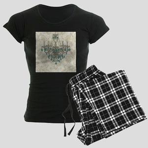 shabby chic damask vintage c Women's Dark Pajamas