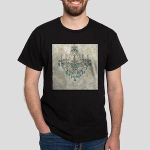 shabby chic damask vintage chandelier T-Shirt