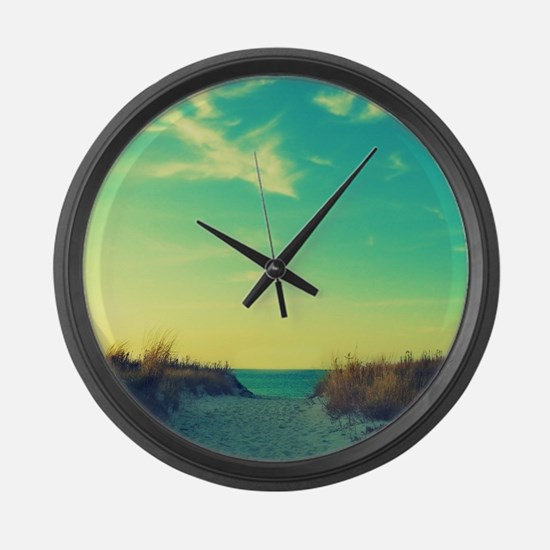 Walk With Love Large Wall Clock