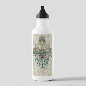shabby chic damask vin Stainless Water Bottle 1.0L