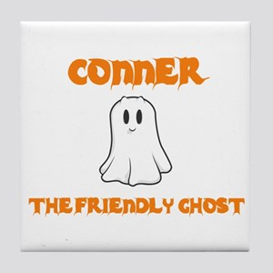 Conner the Friendly Ghost Tile Coaster