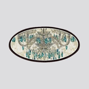 shabby chic damask vintage chandelier Patch