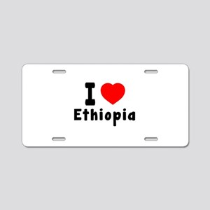 I Love Ethiopia Aluminum License Plate
