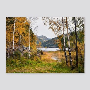 Autumn Lake View 5'x7'Area Rug