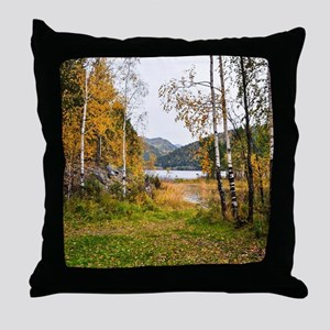 Autumn Lake View Throw Pillow