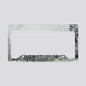 Winter Wonderland License Plate Holder