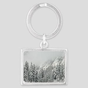 Winter Wonderland Landscape Keychain