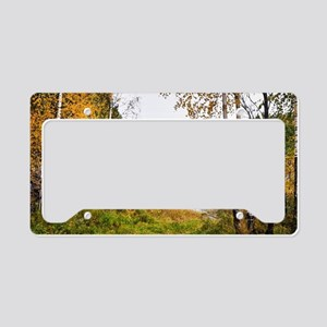 Autumn Lake View License Plate Holder